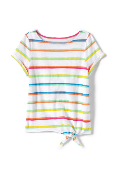 Toddler Girls Knot Front Slub Pattern Knit Top