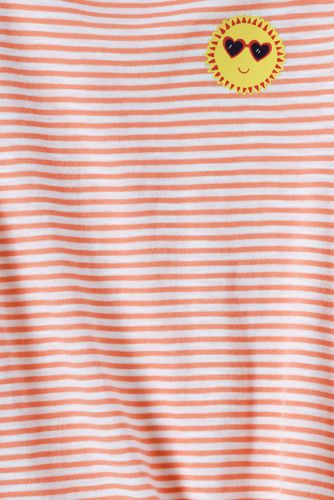 Girls Knot Front Slub Knit Top