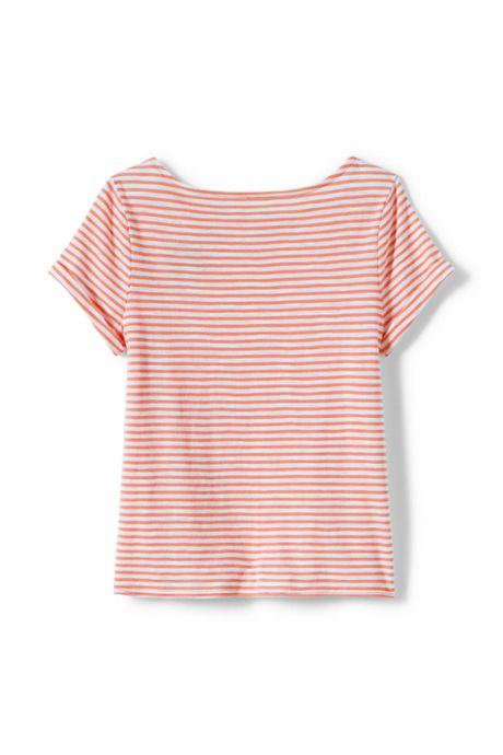 Girls Plus Knot Front Slub Knit Top