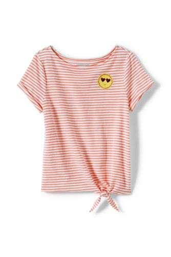 Girls' Knot Front Slub Jersey Top