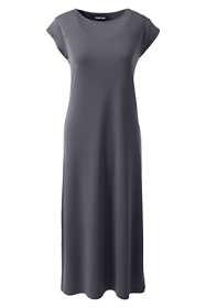 Women's Petite Cap Sleeve Matte Jersey Tee Shirt Dress