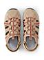Sandale Semi-Fermée en Daim, Femme Pied Standard