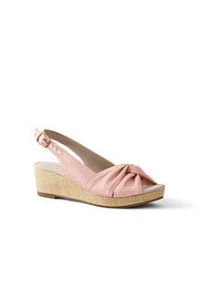 4d75394d222 Women s Canvas Slingback Wedge Sandals
