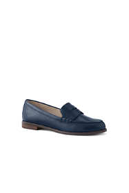 Women's Wide Width Slip On Penny Loafer Shoes