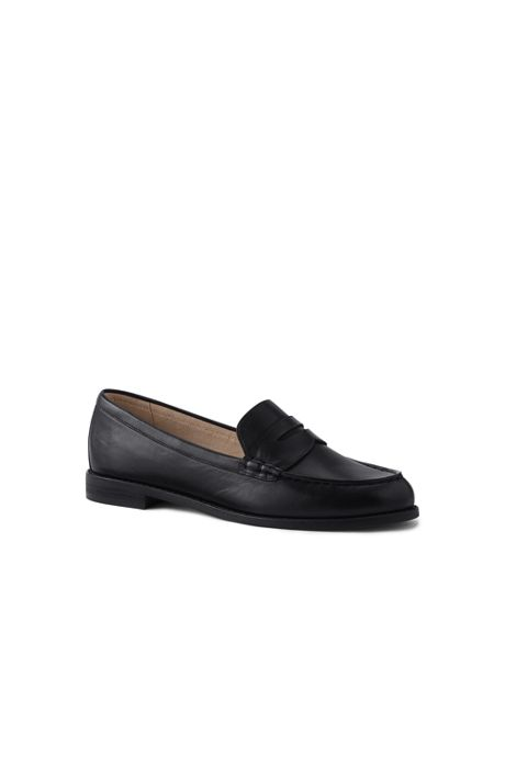 School Uniform Women's Wide Width Slip On Penny Loafer Shoes