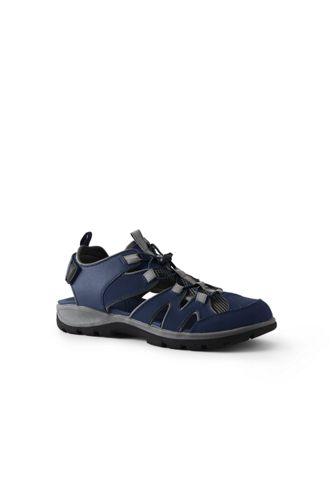 Sandales de Marche Semi-Ouvertes en Daim, Homme Pied Standard