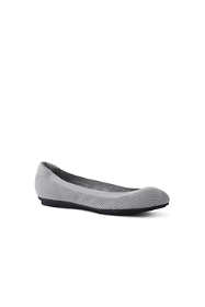 School Uniform Women's Wide Comfort Elastic Mesh Ballet Flats