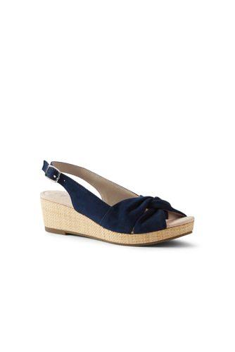 99183a55e6e Women's Suede Slingback Wedge Sandals