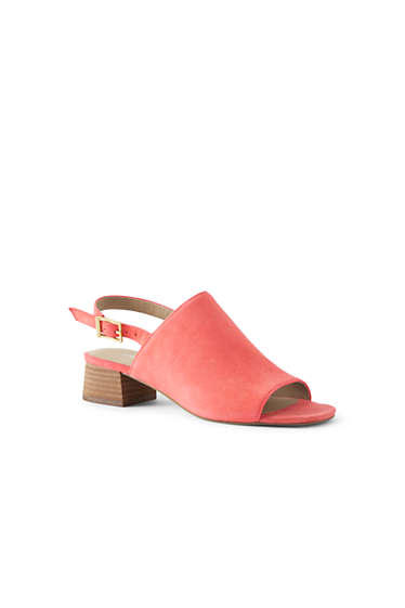 f264a09004b Women s Heeled Slingback Mule Sandals from Lands  End