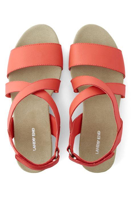 Women's Wide Comfort Cork Wedge Sandals
