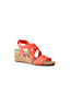 Women's Wide Leather Cork Wedge Sandals