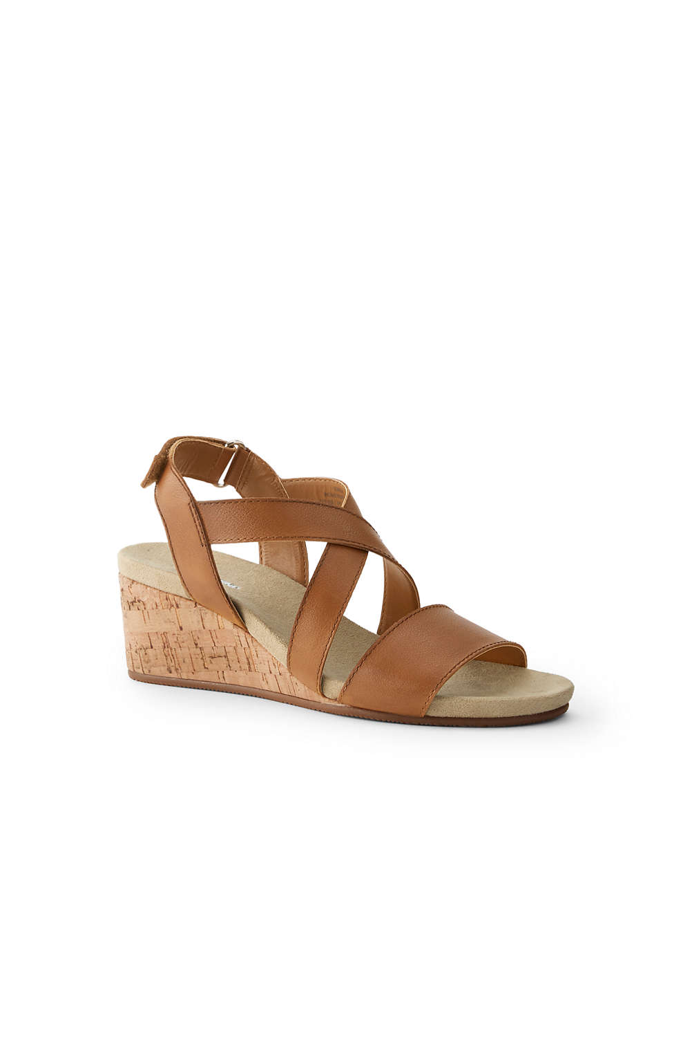 2689a5c9f732 Women s Comfort Cork Wedge Sandals from Lands  End