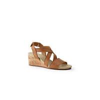 LandsEnd.com deals on Lands End Women's Comfort Cork Wedge Sandals