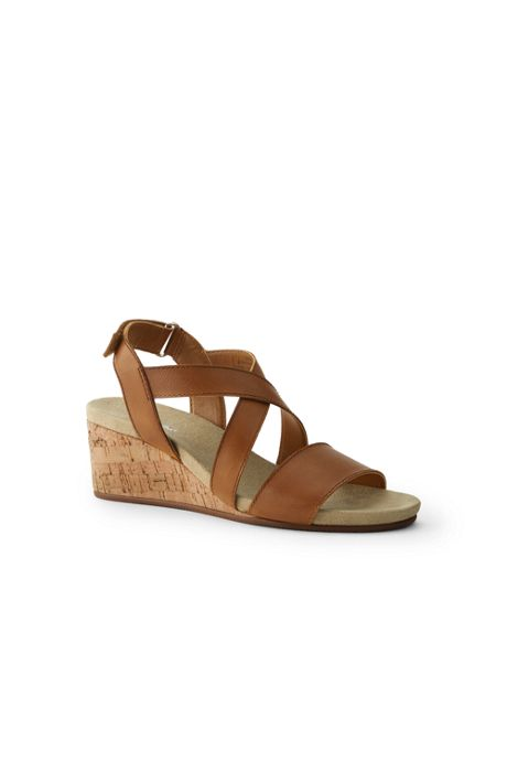 Women's Wide Comfort Cork Wedge Sandals