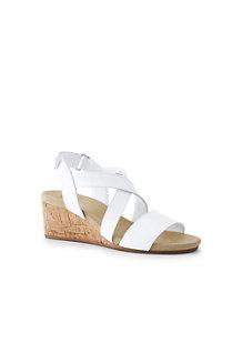Sandales Compensées Brides Croisées, Femme