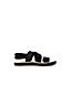 Sandale Plate à Bride Élastiquée, Femme Pied Large