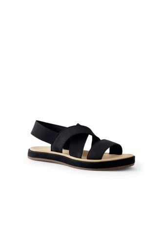 Sandale Plate à Bride Élastiquée, Femme Pied Standard