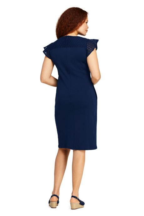 Women's Plus Size Short Sleeve Knit Sheath Dress