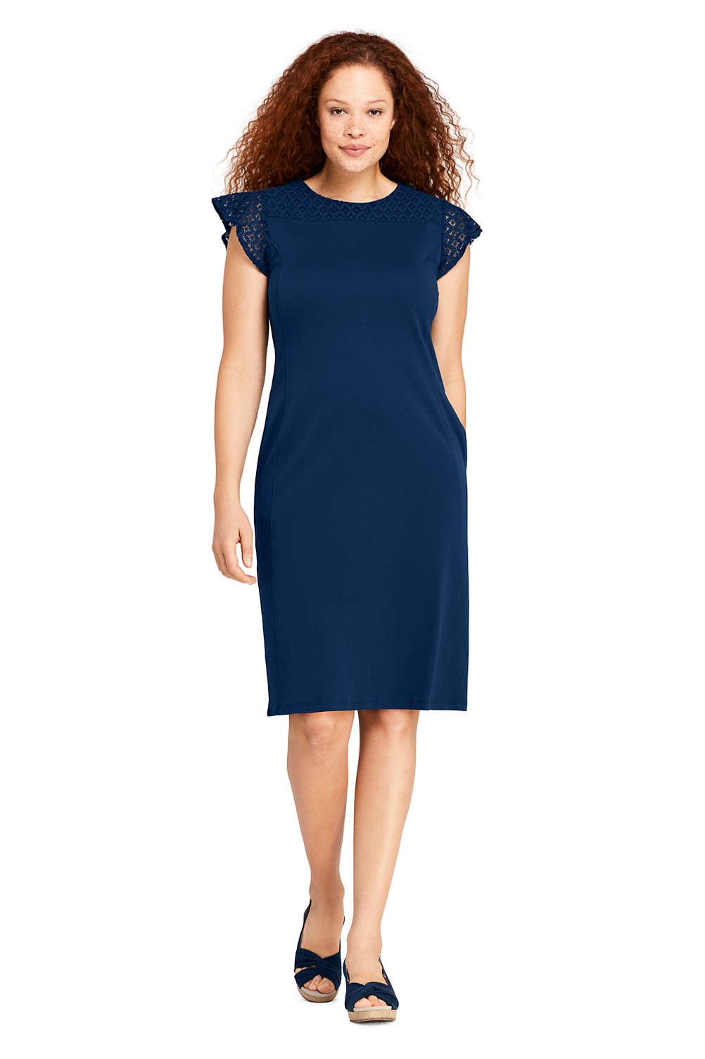 Women\'s Plus Size Short Sleeve Knit Sheath Dress