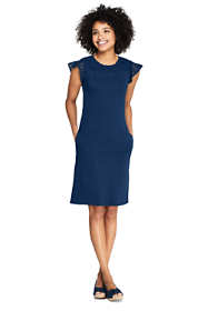 Women's Petite Short Sleeve Knit Sheath Dress
