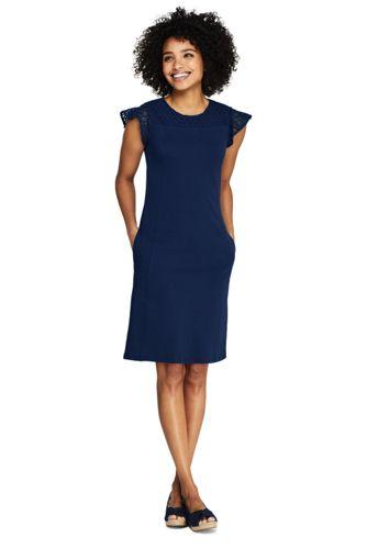 Women's Ponte Knit Sheath Tweed Dress with Elbow Sleeves