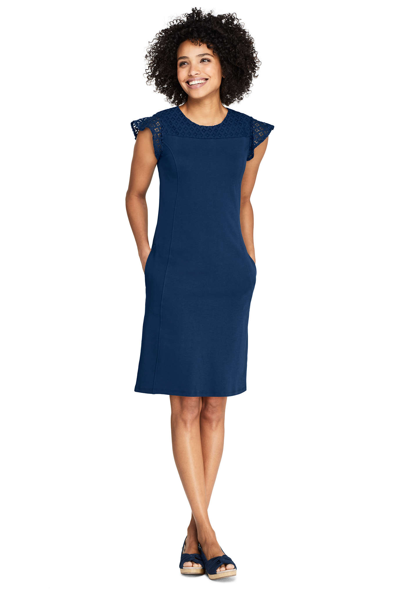 Women's Short Sleeve Knit Sheath Dress