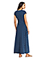 Women's Petite Knot Front Print Maxi Dress