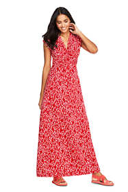 Women's Cap Sleeve Knot Front Maxi Dress