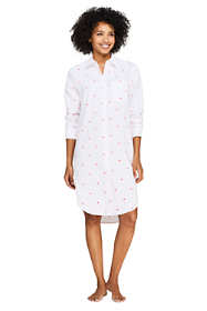Women's Embroidered Cotton Pajama Nightshirt