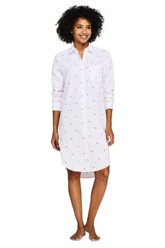 Women's Embroidered Hearts Nightshirt