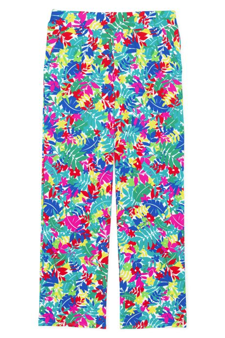 Women's UPF 50 Sun Protection Swim Cover-up Beach Pants Print