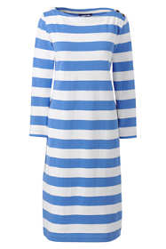 Women's Petite 3/4 Sleeve Stripe Heritage Jersey Shift Dress