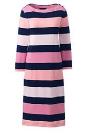 478d59ca20 Women s Plus Size 3 4 Sleeve Stripe Heritage Jersey Shift Dress