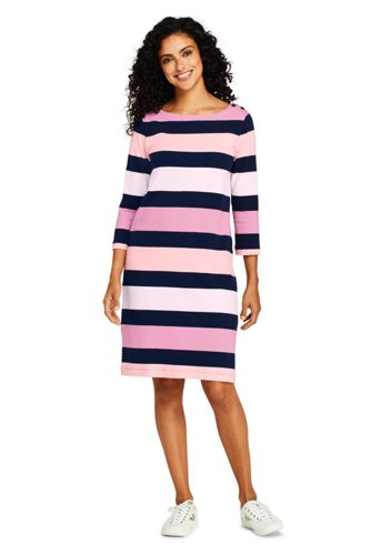 24f64adb8f1 Women s 3Q Sleeve Stripe Heritage Jersey Shift Dress