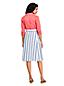 Women's Striped Stretch Linen Mix Skirt