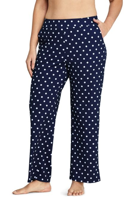 Women's Plus Size UPF 50 Sun Protection Swim Cover-up Beach Pants Print