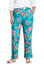 Women's Plus Size UPF 50 Sun Protection Swim Cover-up Beach Pants Print