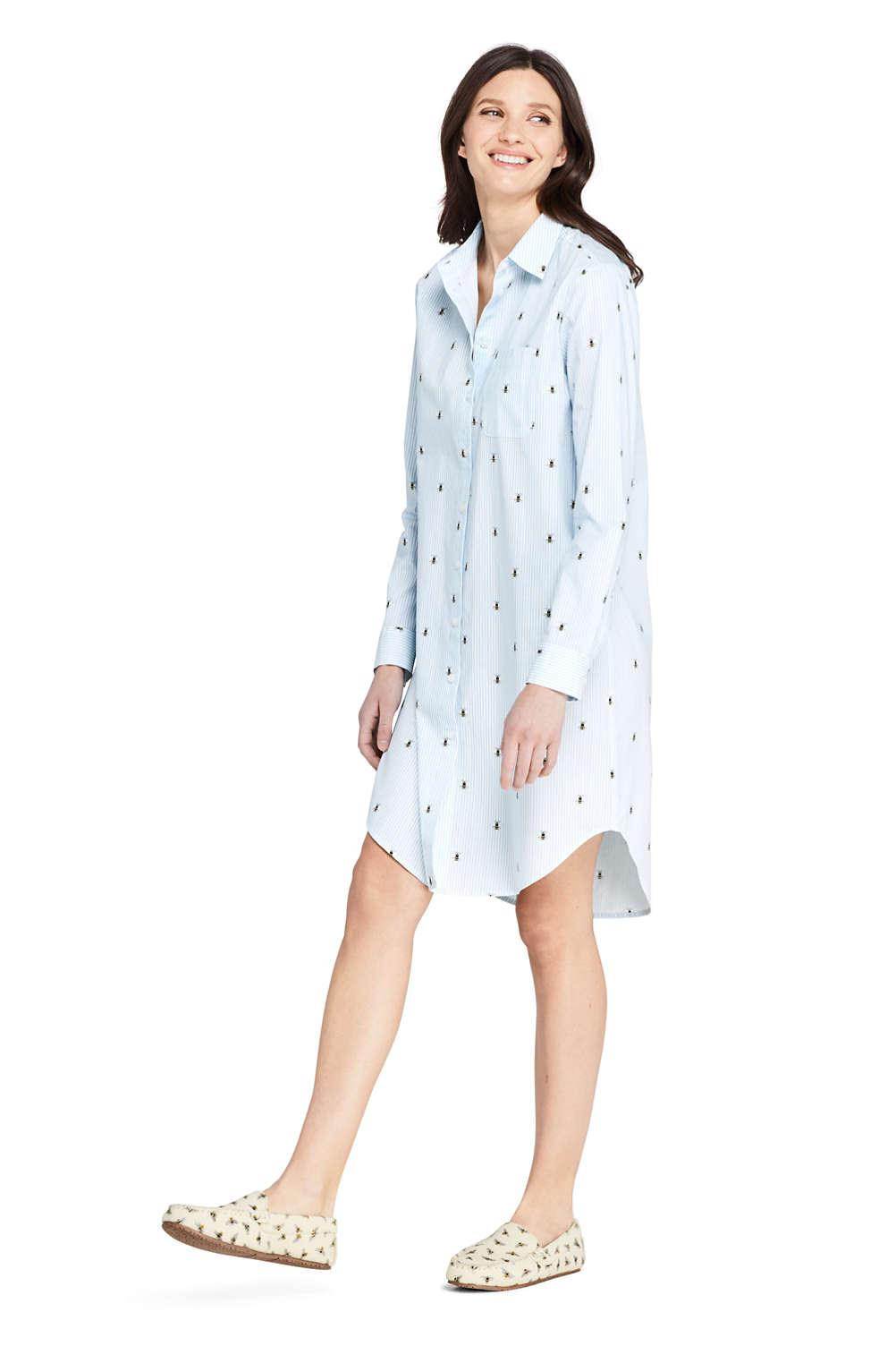 118651b5e3 Women s Cotton Pajama Nightshirt Sophie Allport Bee Print. Item  508660AH9.  View Fullscreen