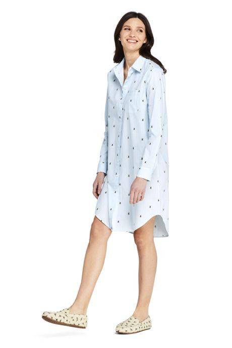 Women's Petite Cotton Pajama Nightshirt Sophie Allport Bee Print