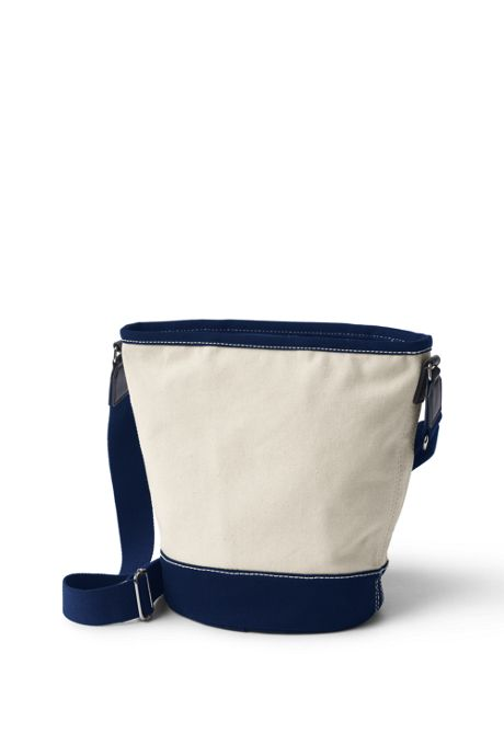 Canvas Zipped Bucket Bag