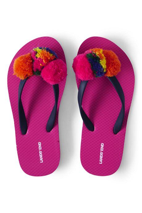 Kids Pom Pom Flip Flop Sandals