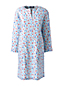 Women's Floral Stretch Linen Mix Tunic Dress
