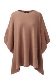 Women's Plus Size Cashmere Ruffle Sweater Poncho
