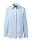 Women's Oxford Shirt with Embroidered Trim