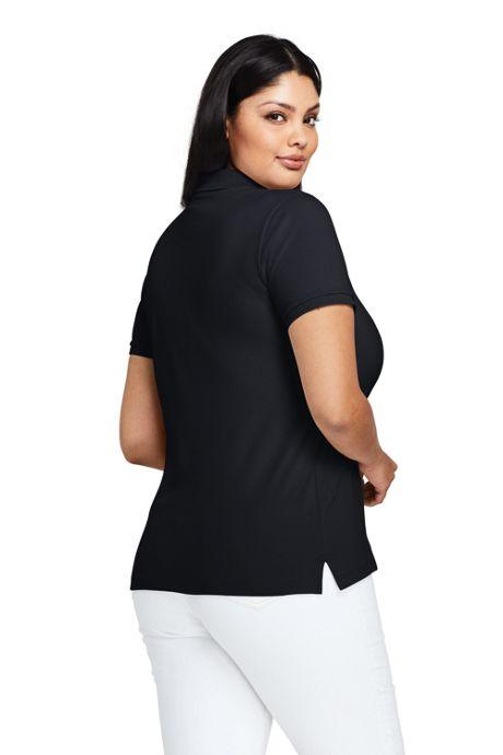 Plus Size Short Sleeve Cotton Polo Shirt, Plus Size Polos ...