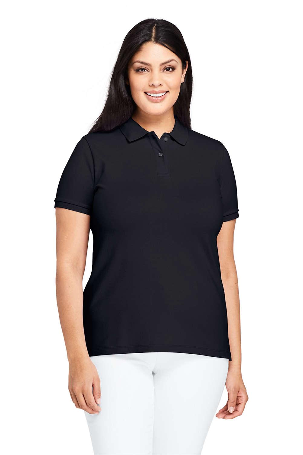 Women\'s Plus Size Mesh Cotton Short Sleeve Polo Shirt