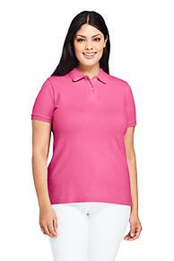 ea86b5623ae2 Women s Plus Size Mesh Cotton Polo Shirt Short Sleeve