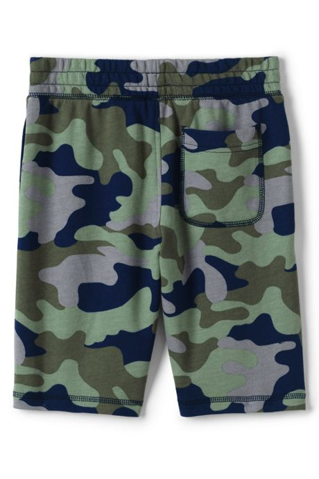Boys Husky Pull On Pattern French Terry Shorts