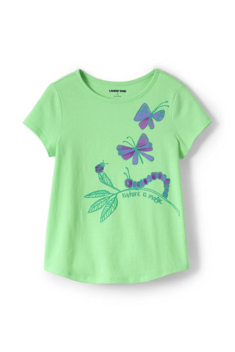 Girls Plus Size Color Change Graphic Tee Shirt