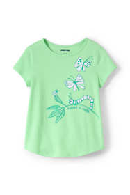Girls Color Change Graphic Tee Shirt